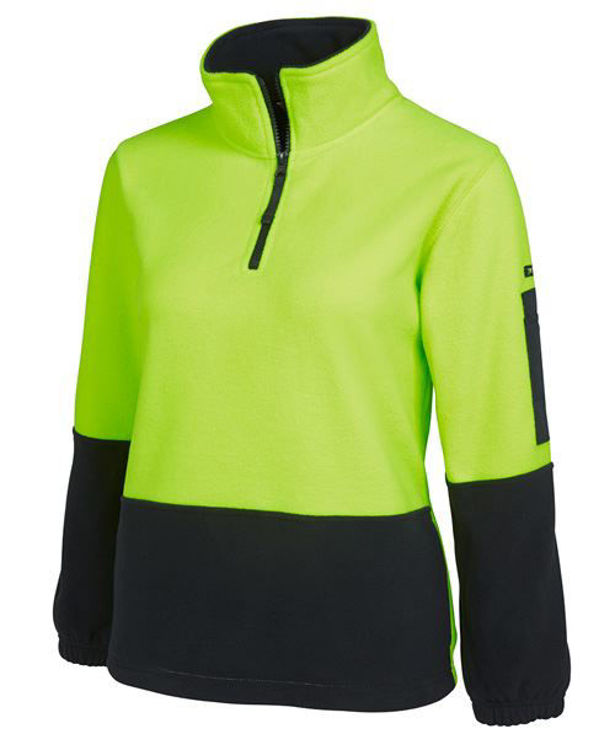 Picture of JB'S HI VIS LADIES 1-2 ZIP POLAR