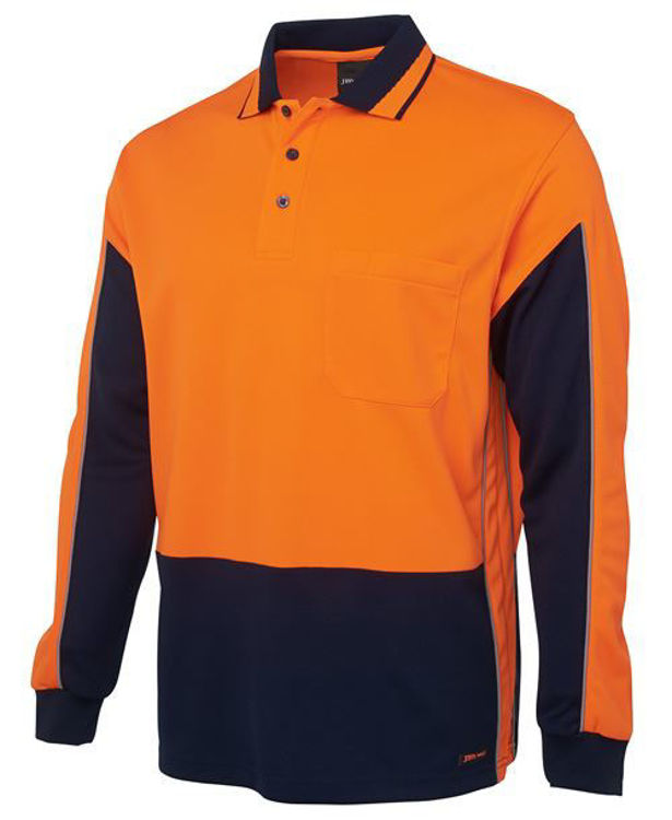 Picture of JB'S HI VIS L-S GAP POLO