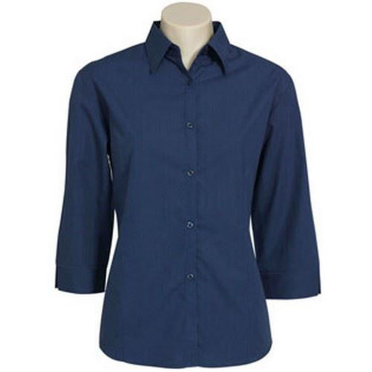 Picture of LADIES 3-4 SLV CHK SHIRT