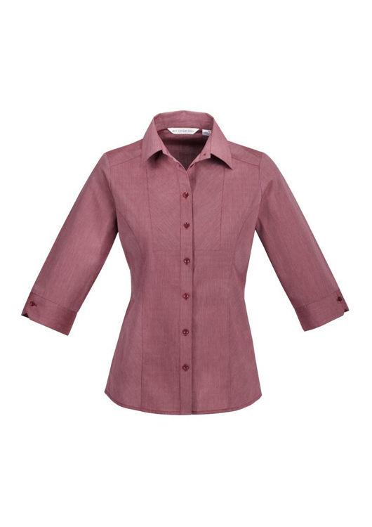 Picture of Ladies Chevron 3-4 Sleeve Shirt