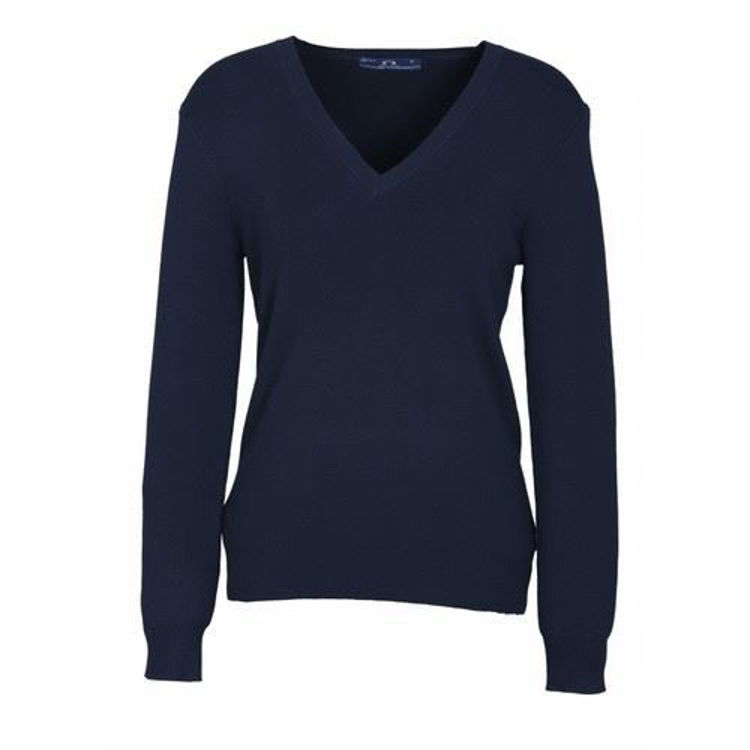 Picture of Ladies V Neck Pullover