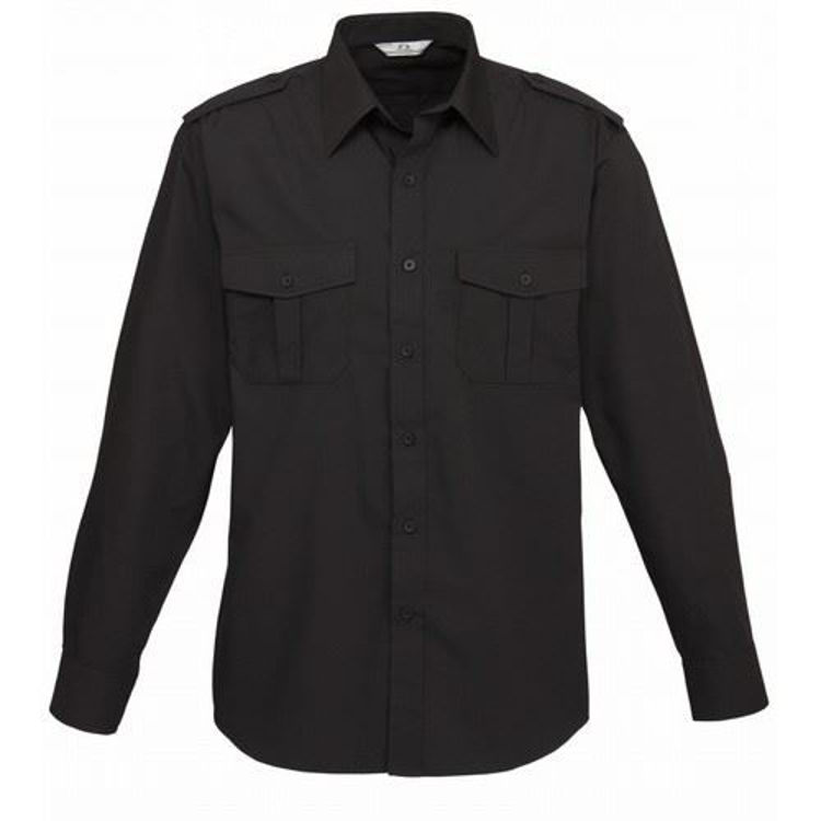 Picture of Mens Epaulette Long Sleeve Shirt