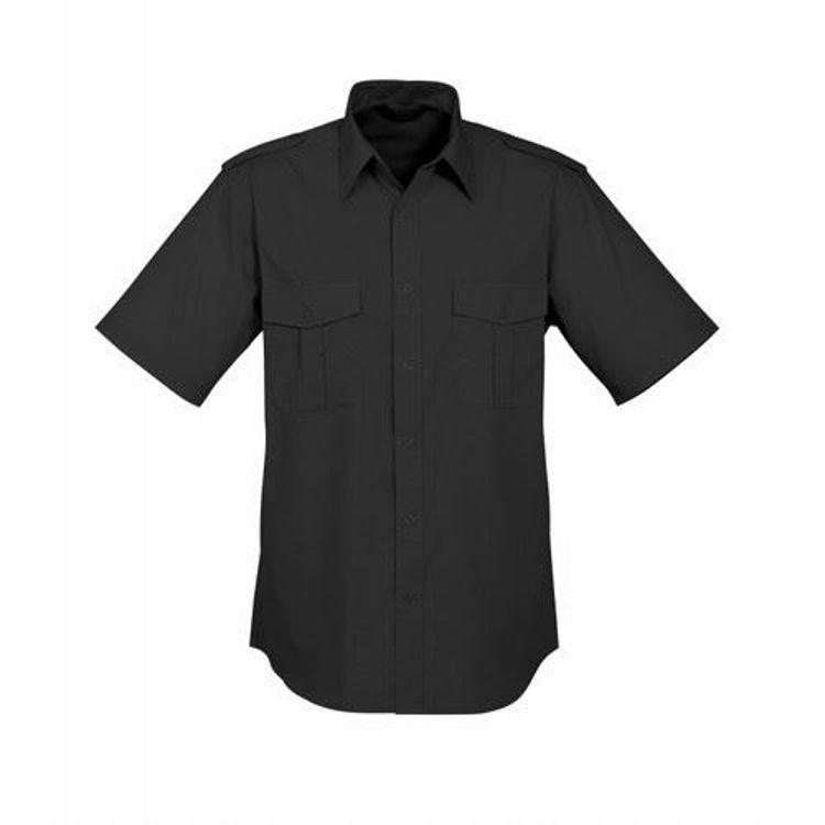 Picture of Mens Epaulette Shirt - Short Sleeve