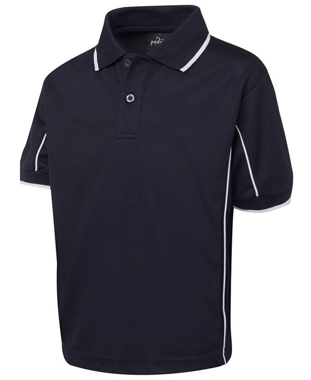 Picture of PODIUM KIDS S-S PIPING POLO
