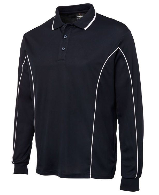 Picture of PODIUM L-S PIPING POLO