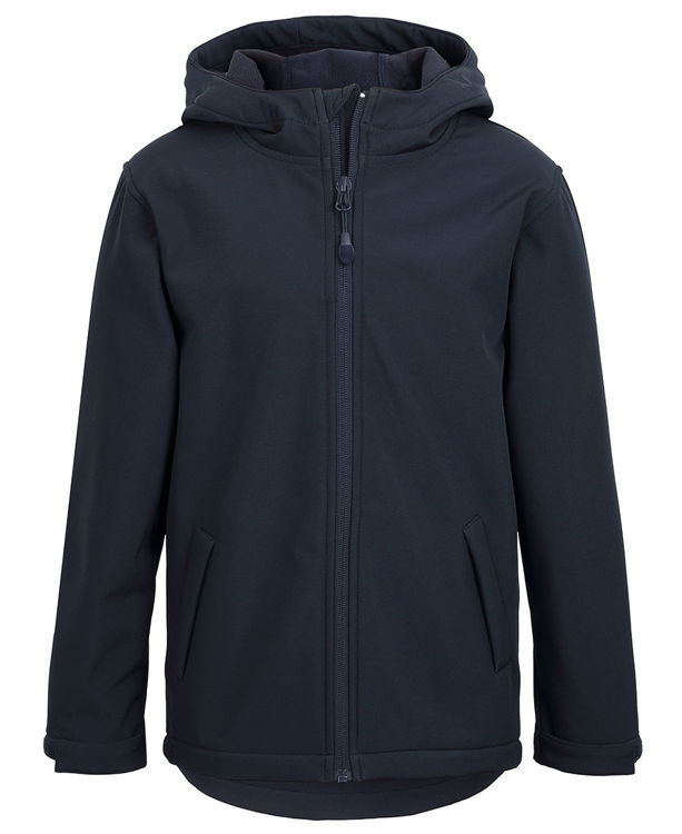 Picture of PODIUM KIDS WATER RESISTANT HOODED SOFTSHELL JACKET