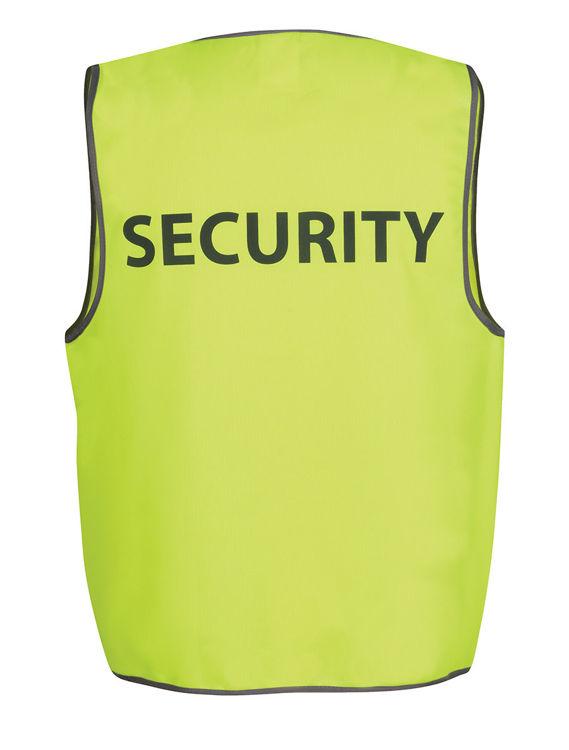 Picture of JB's HV SAFETY VEST PRINT SECURITY