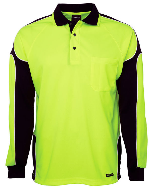 Picture of JB'S HI VIS L-S ARM PANEL POLO